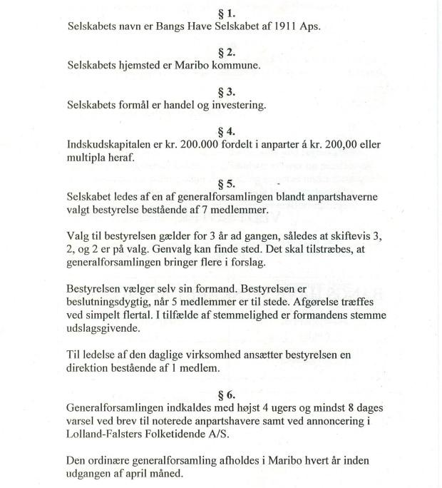 Selskabets vedtægter fra 1995 - A4-page-1
