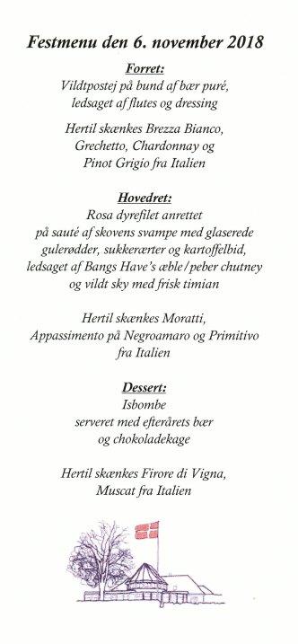 BHS menu 06.11.2018